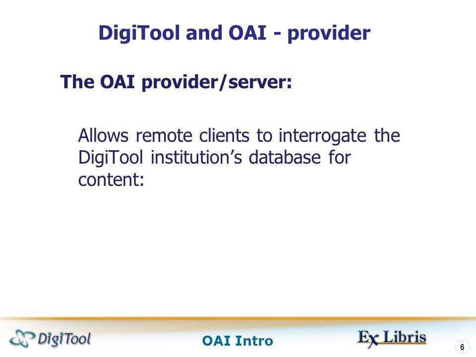 DigiTool and OAI - provider