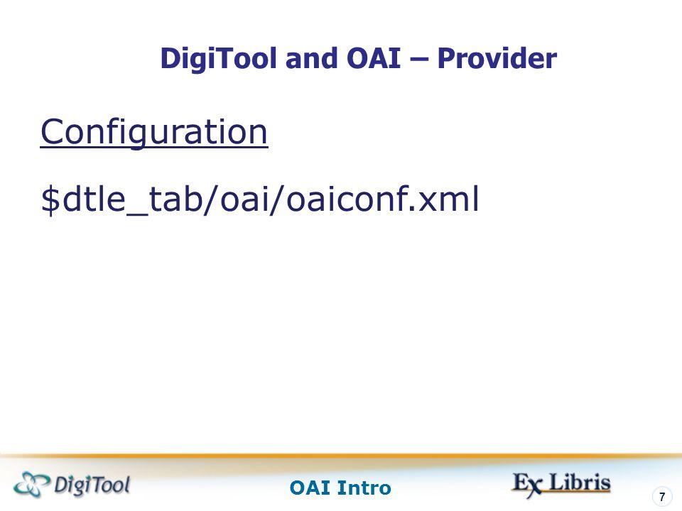 DigiTool and OAI – Provider