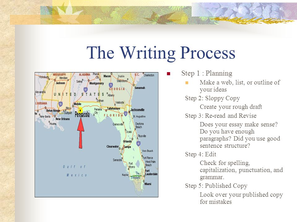 The Writing Process Step 1 : Planning