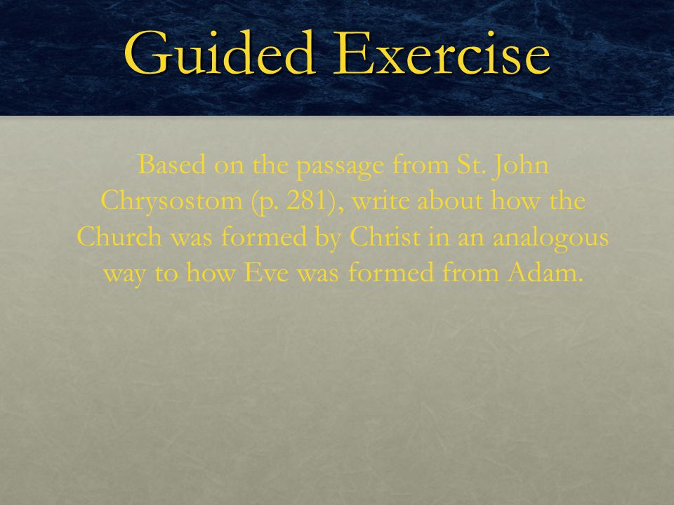 Guided Exercise