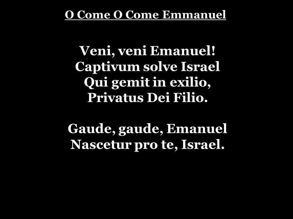 Veni, veni Emanuel! Captivum solve Israel Qui gemit in exilio,