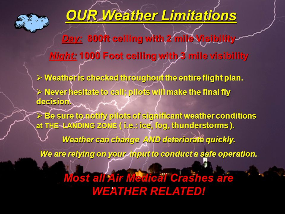 OUR Weather Limitations