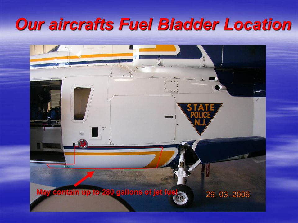 Our aircrafts Fuel Bladder Location