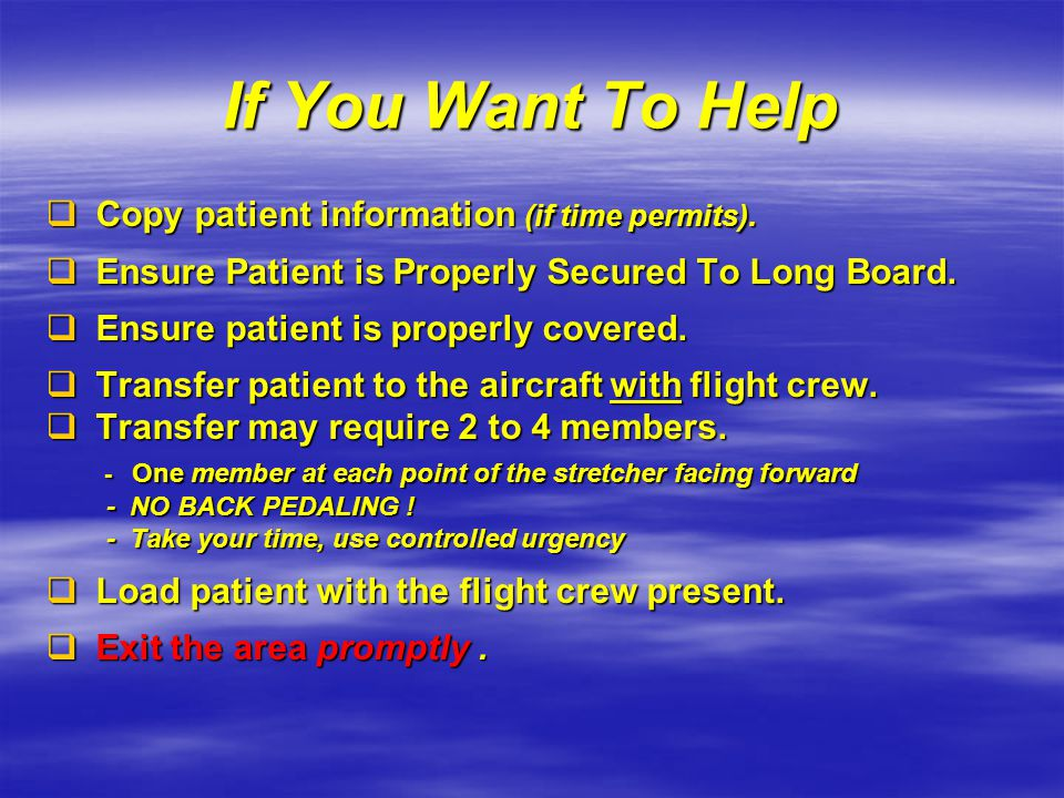 If You Want To Help Copy patient information (if time permits).