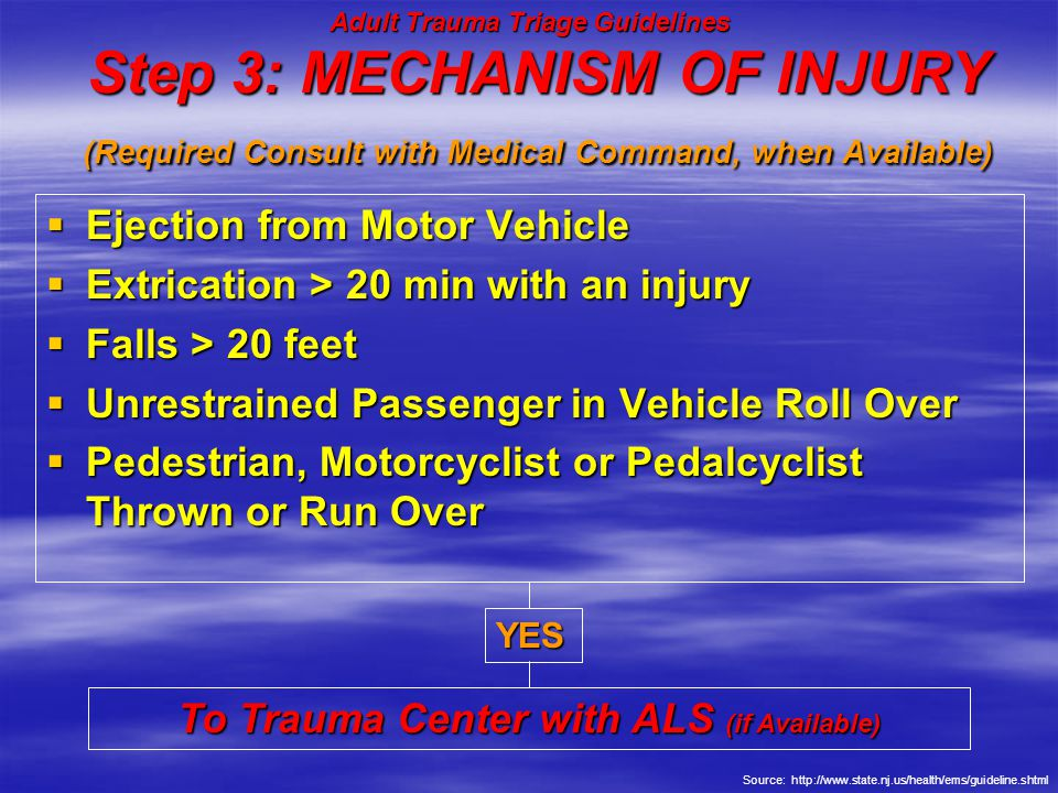 Adult Trauma Triage Guidelines