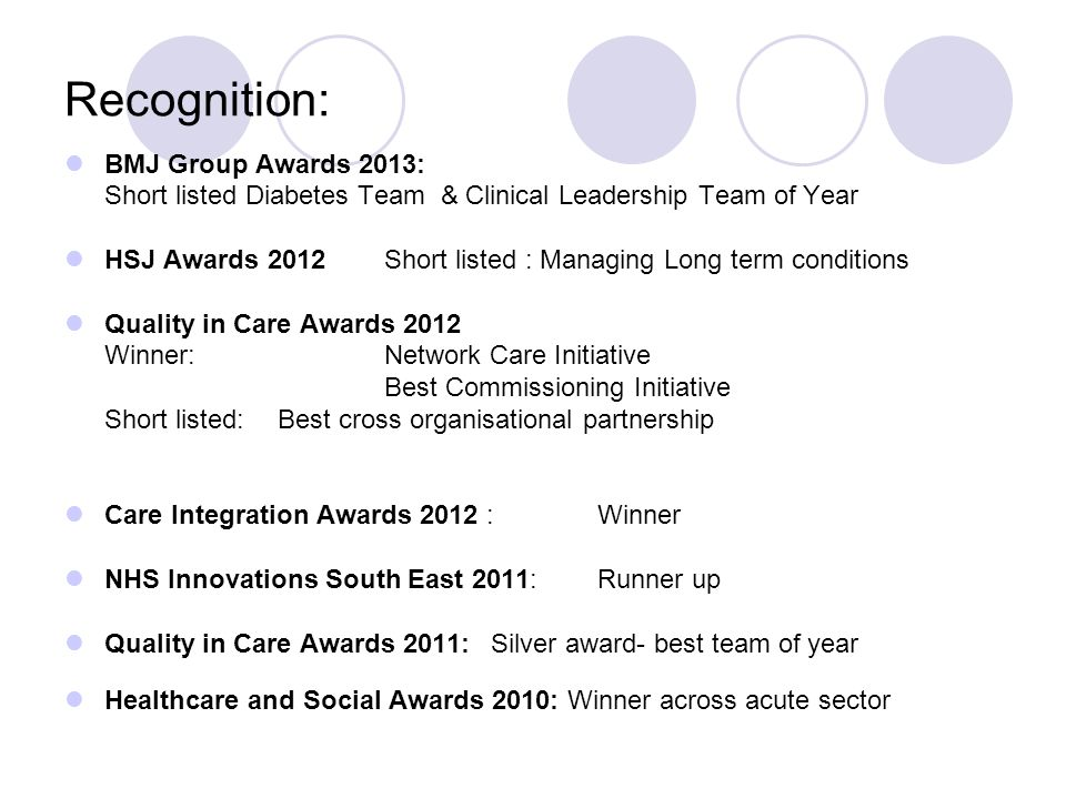 Recognition: BMJ Group Awards 2013: