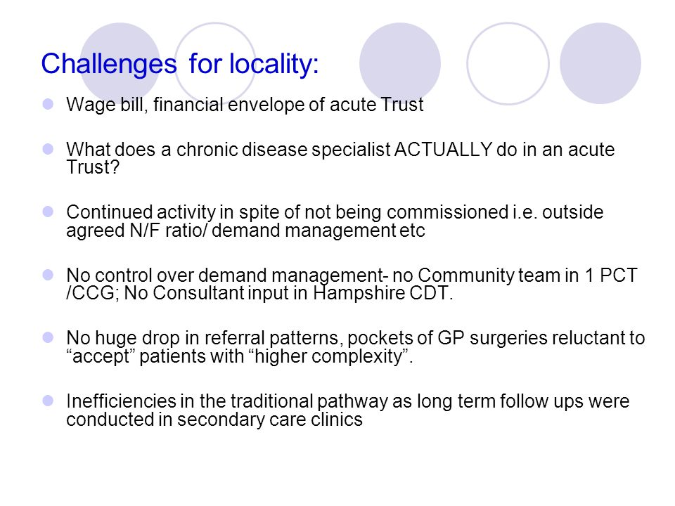Challenges for locality: