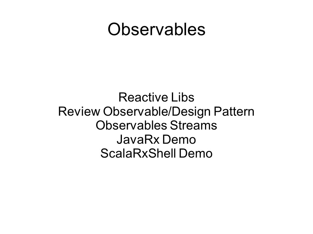 Review Observable/Design Pattern