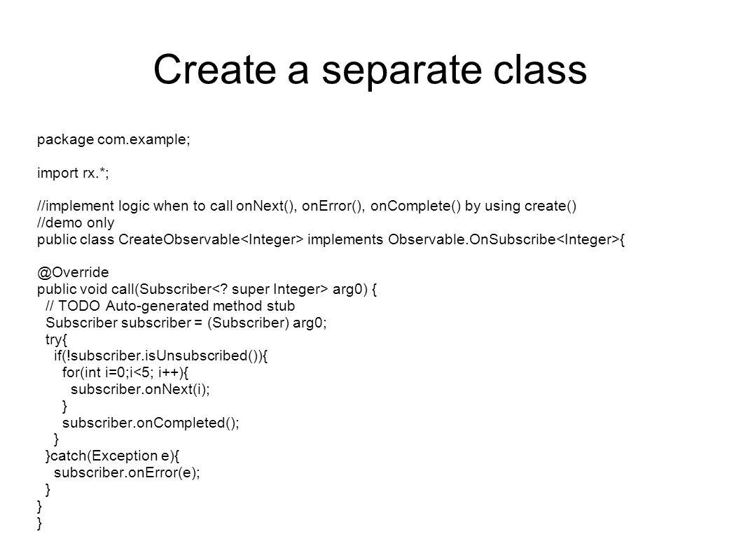 Create a separate class