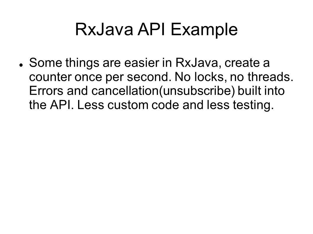 RxJava API Example