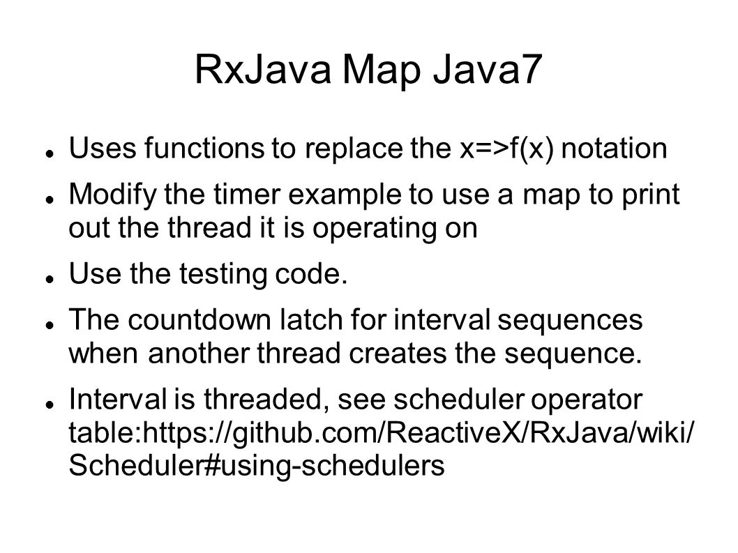 RxJava Map Java7 Uses functions to replace the x=>f(x) notation