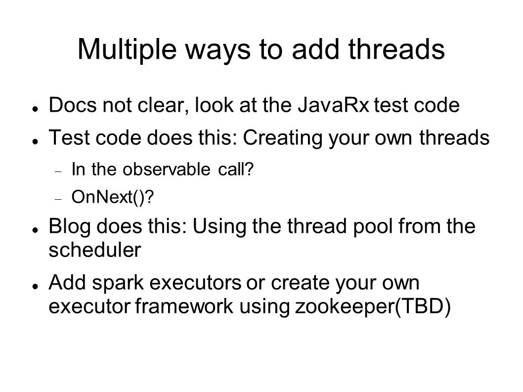 Multiple ways to add threads