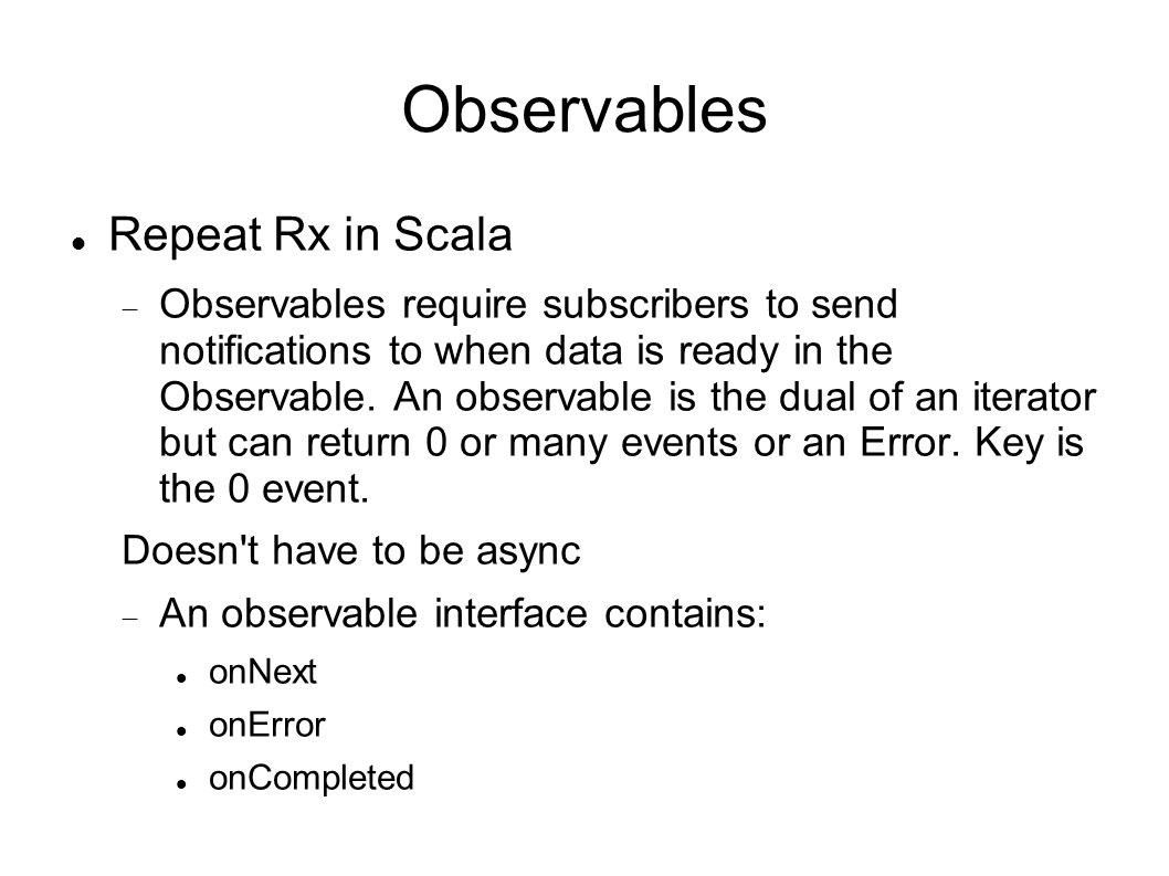 Observables Repeat Rx in Scala