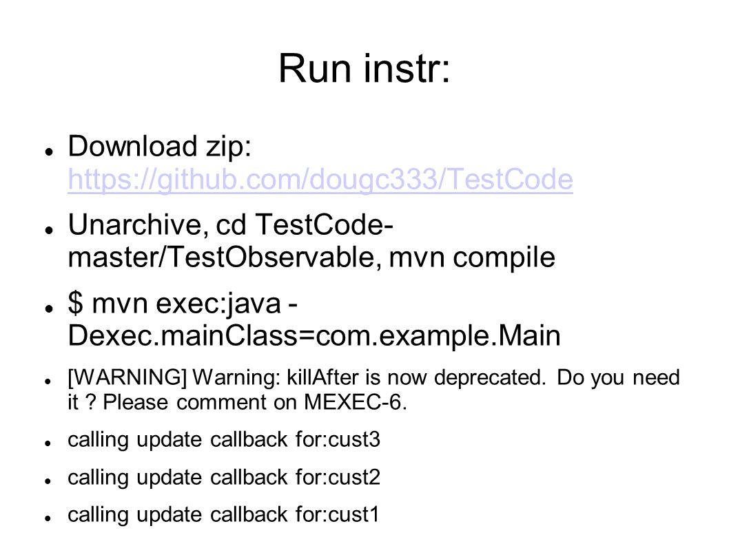 Run instr: Download zip: https://github.com/dougc333/TestCode