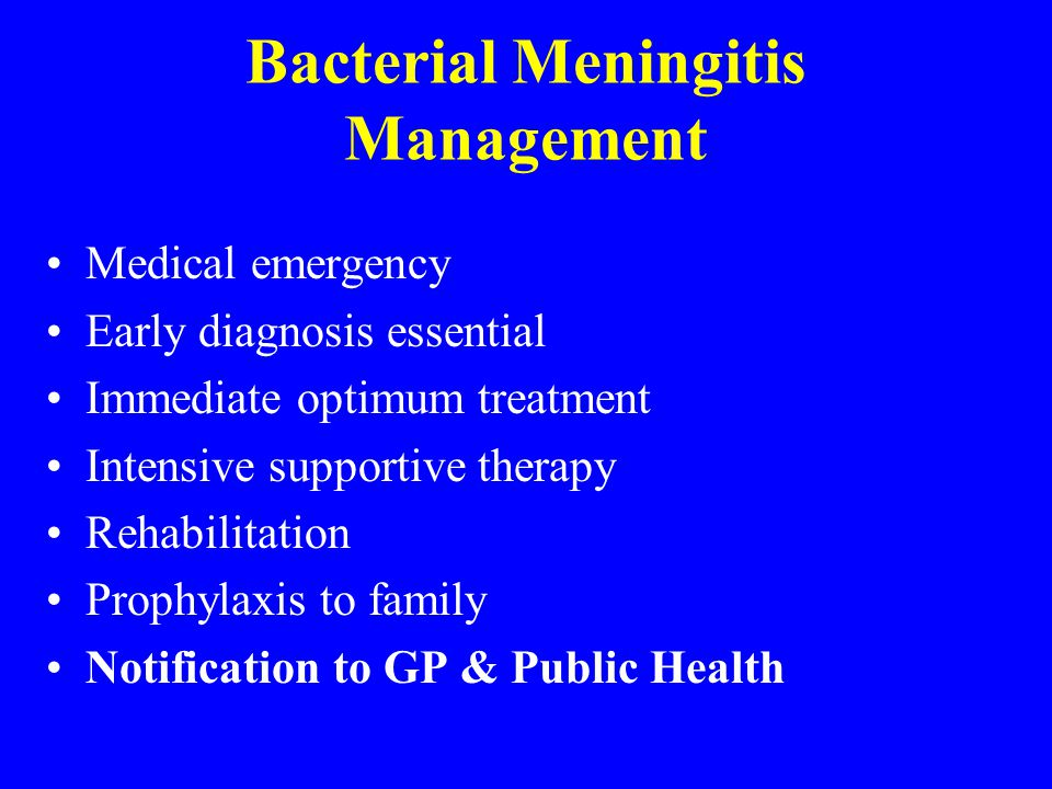 Bacterial Meningitis Management