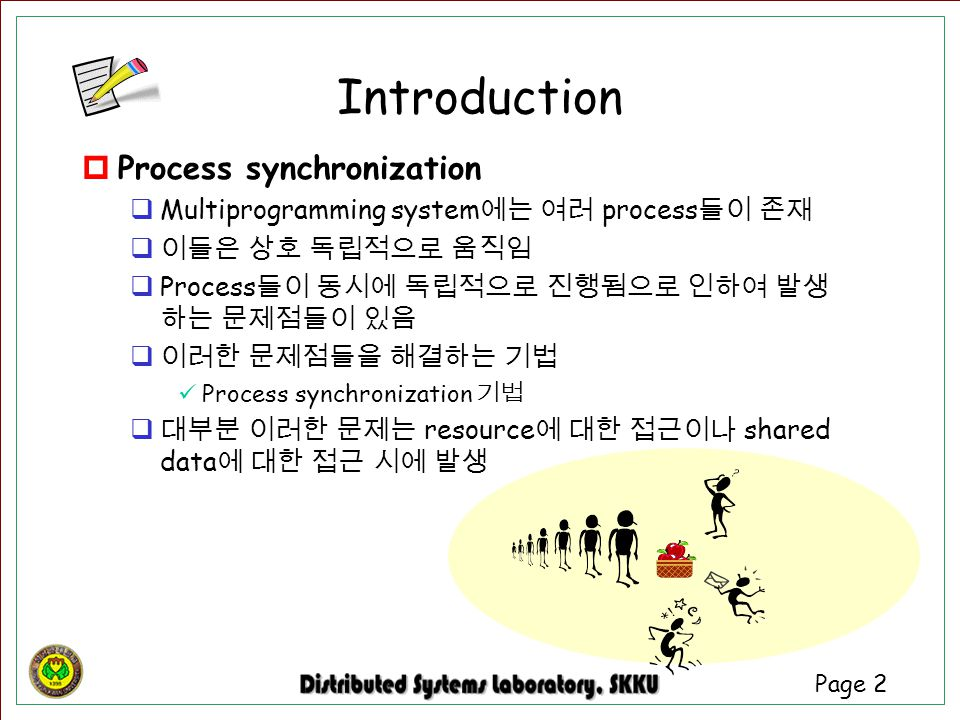 Introduction Process synchronization