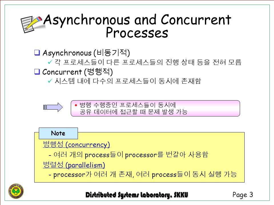 Asynchronous and Concurrent Processes