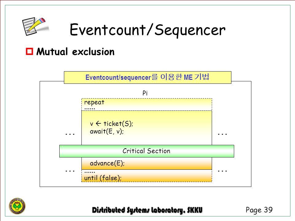 Eventcount/Sequencer