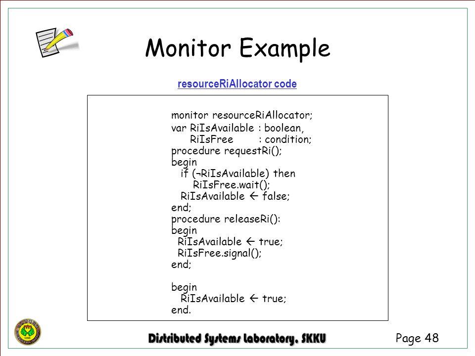 resourceRiAllocator code