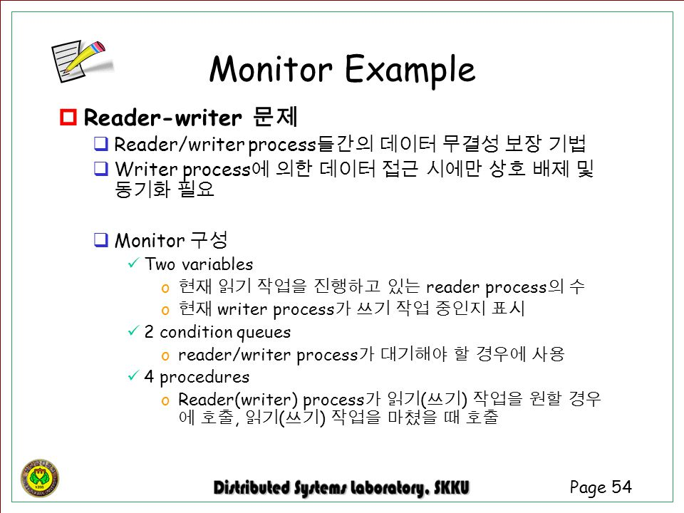 Monitor Example Reader-writer 문제