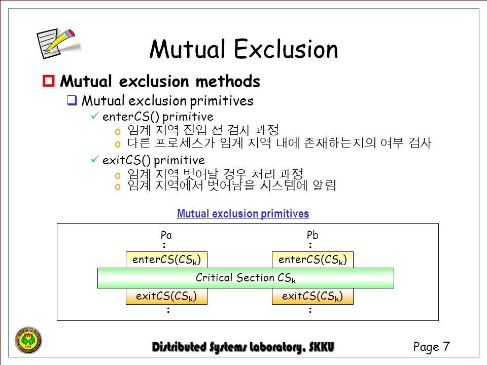 Mutual exclusion primitives