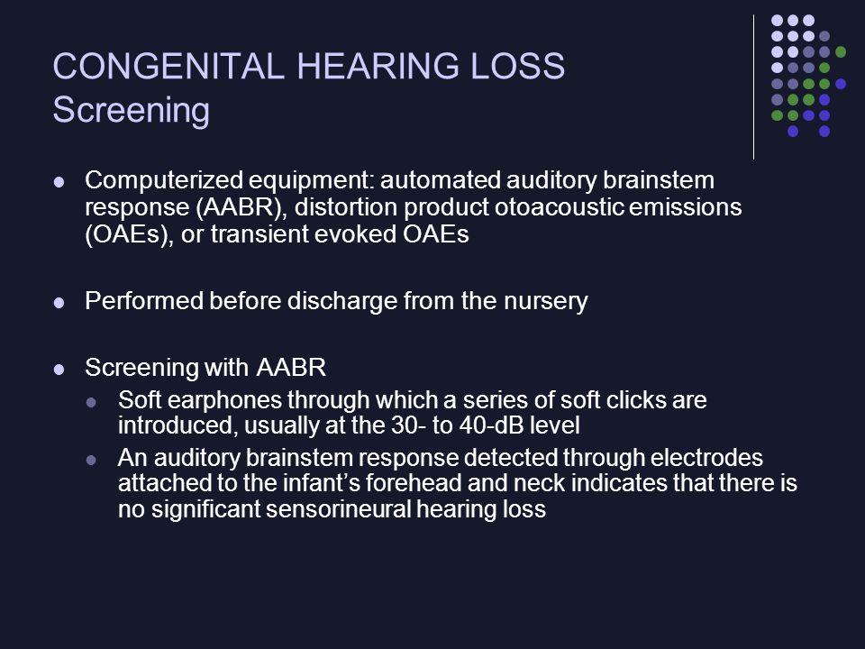 CONGENITAL HEARING LOSS Screening
