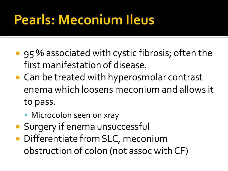 Pearls: Meconium Ileus