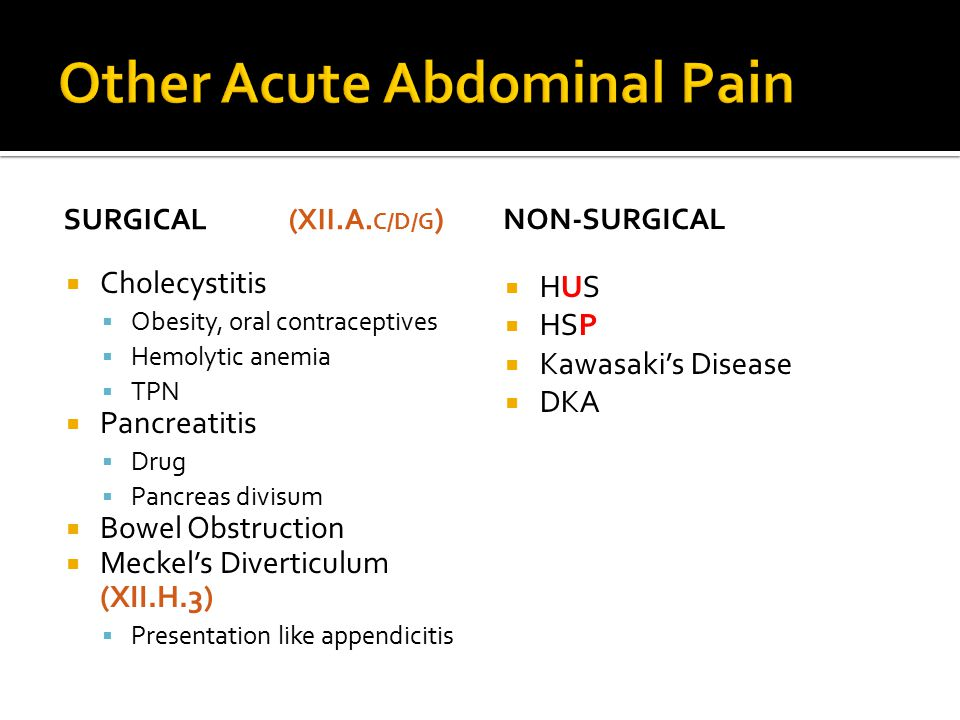 Other Acute Abdominal Pain
