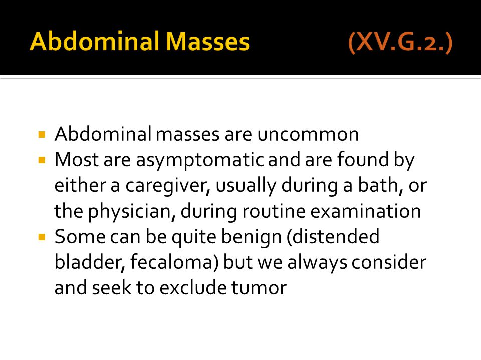 Abdominal Masses (XV.G.2.)