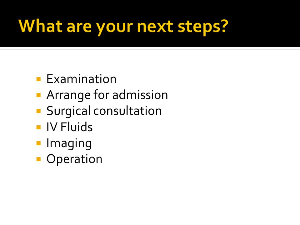 What are your next steps