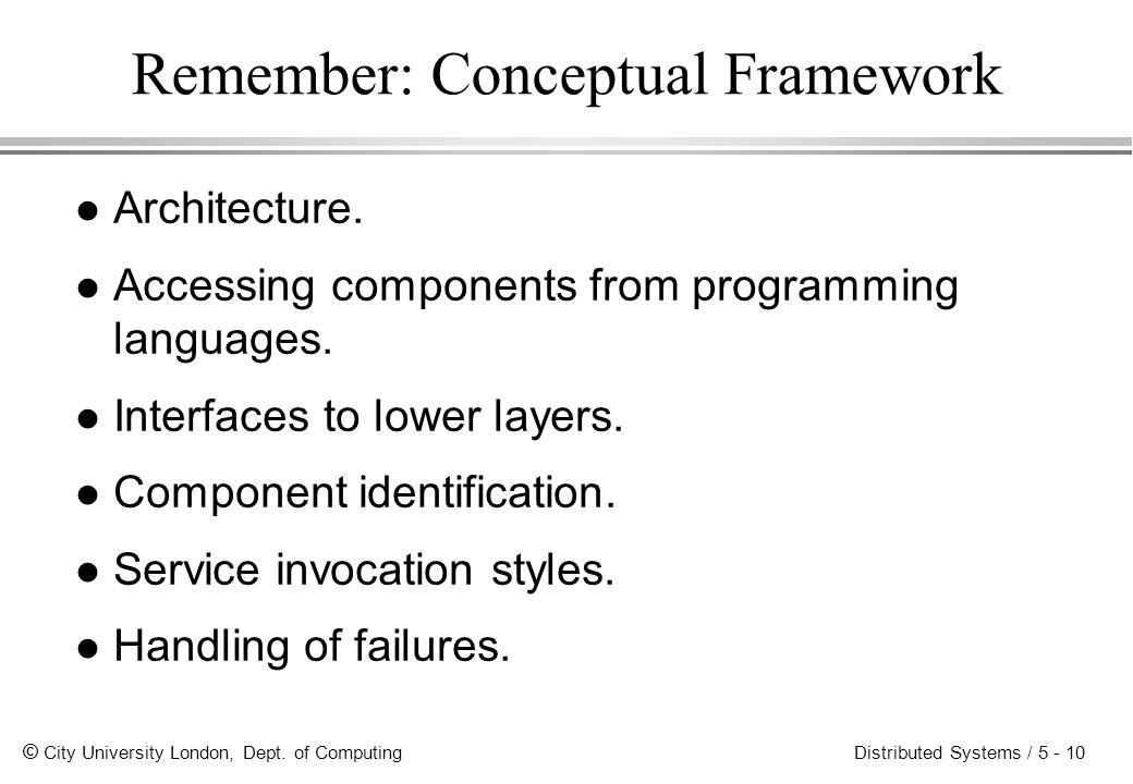 Remember: Conceptual Framework