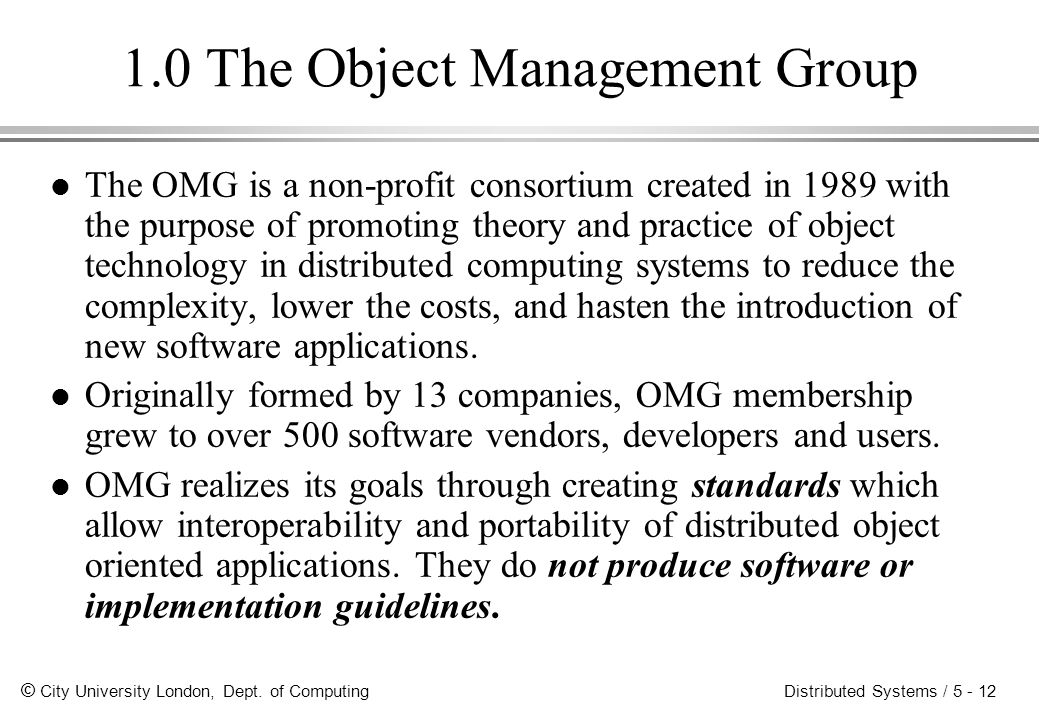 1.0 The Object Management Group