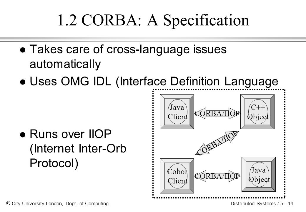 1.2 CORBA: A Specification