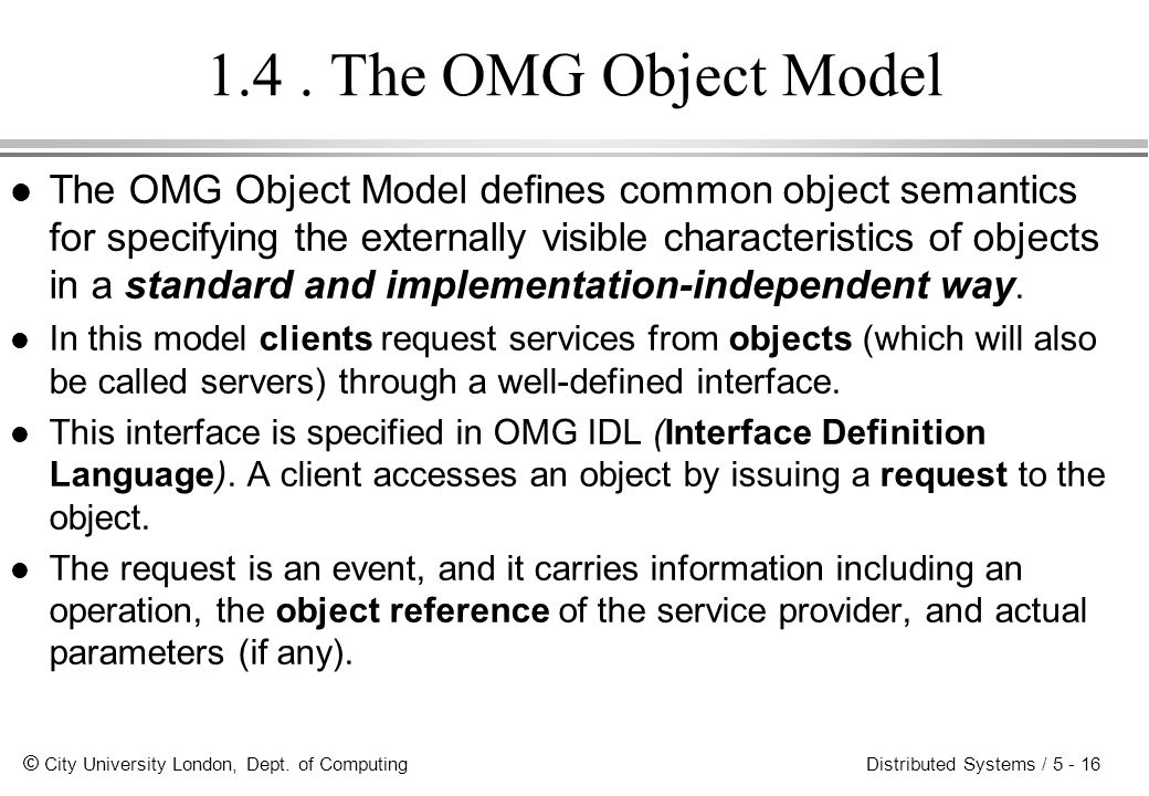 1.4 . The OMG Object Model
