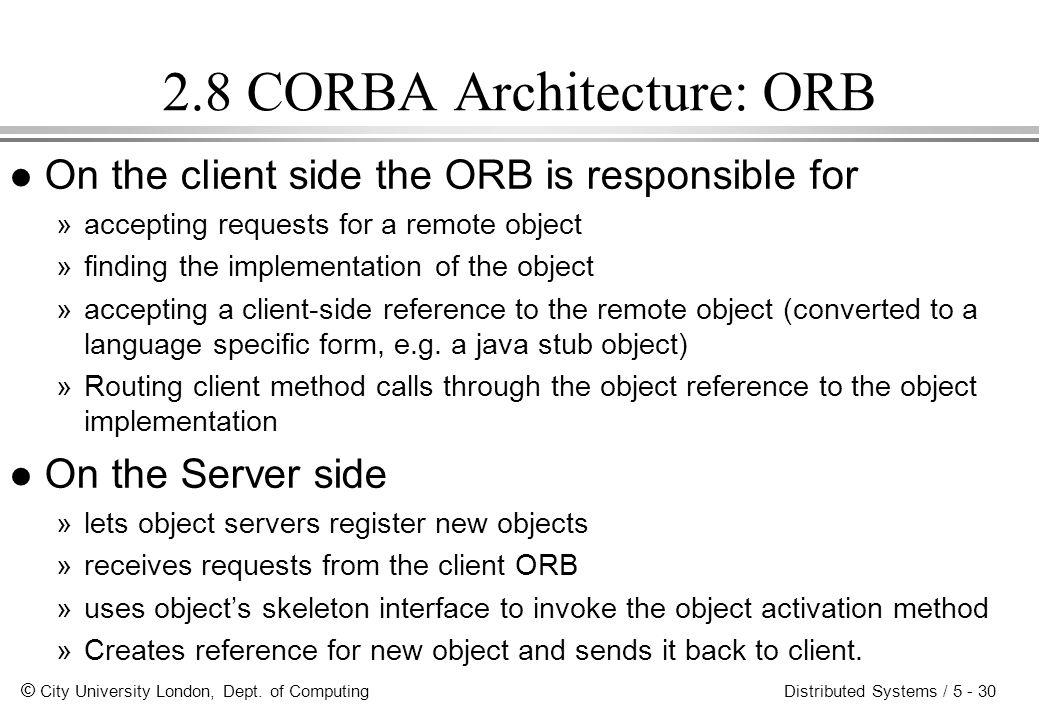 2.8 CORBA Architecture: ORB