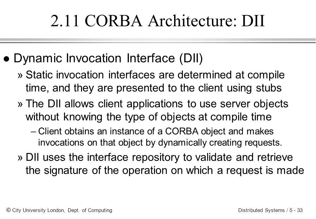 2.11 CORBA Architecture: DII