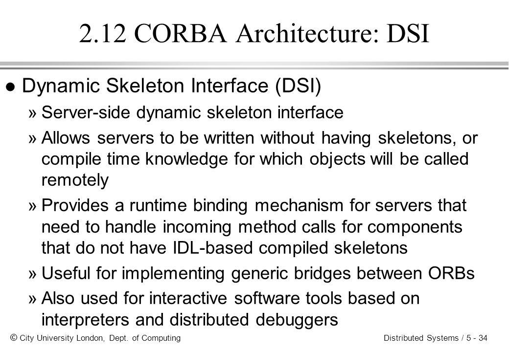 2.12 CORBA Architecture: DSI