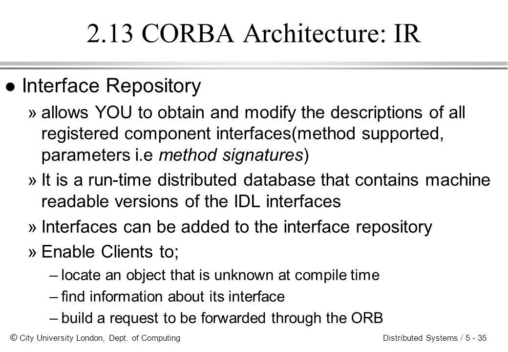 2.13 CORBA Architecture: IR