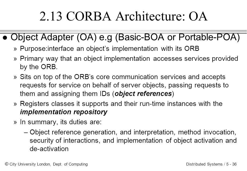 2.13 CORBA Architecture: OA