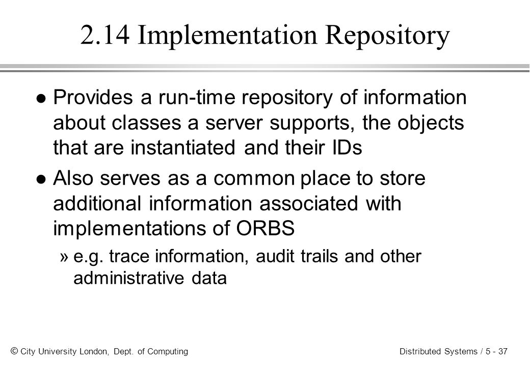 2.14 Implementation Repository