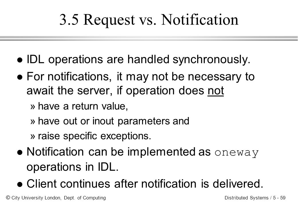 3.5 Request vs. Notification