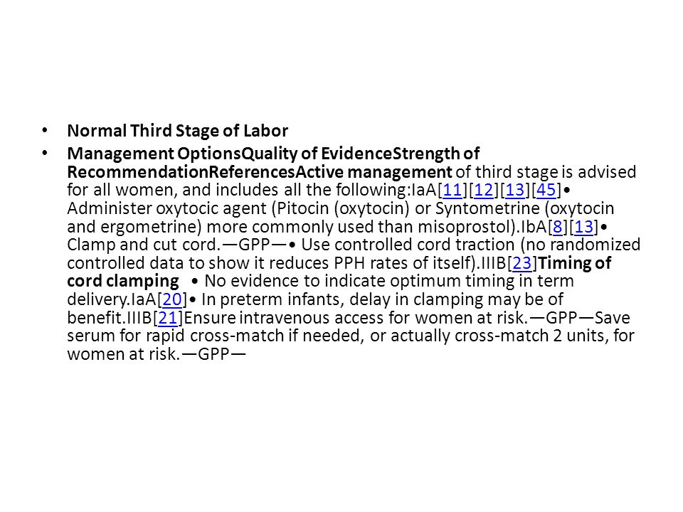 Normal Third Stage of Labor
