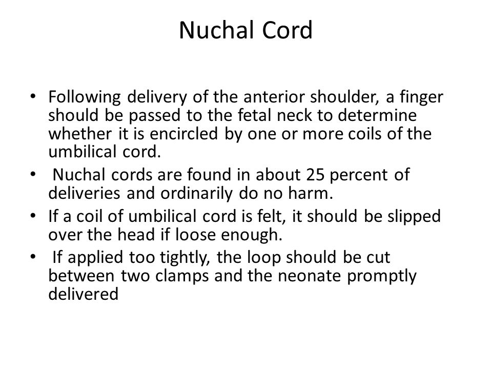 Nuchal Cord