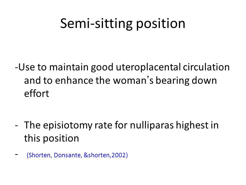 Semi-sitting position