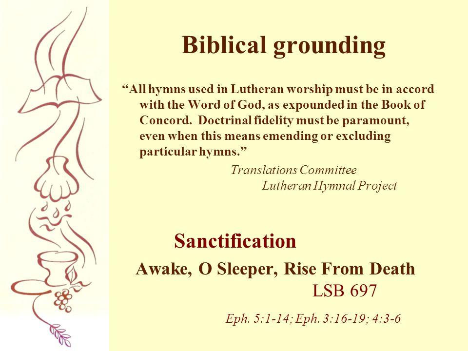 Biblical grounding Sanctification