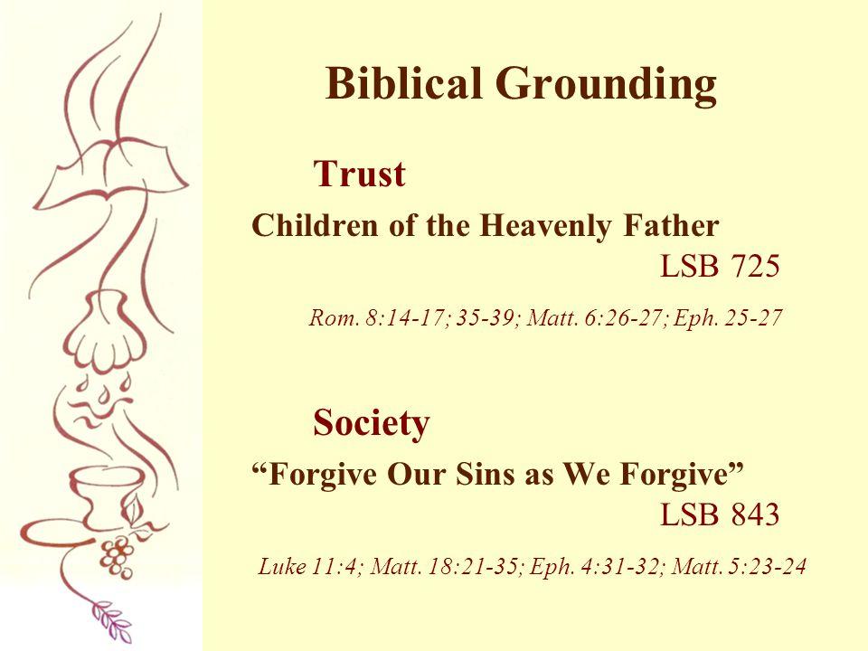 Biblical Grounding Trust Society