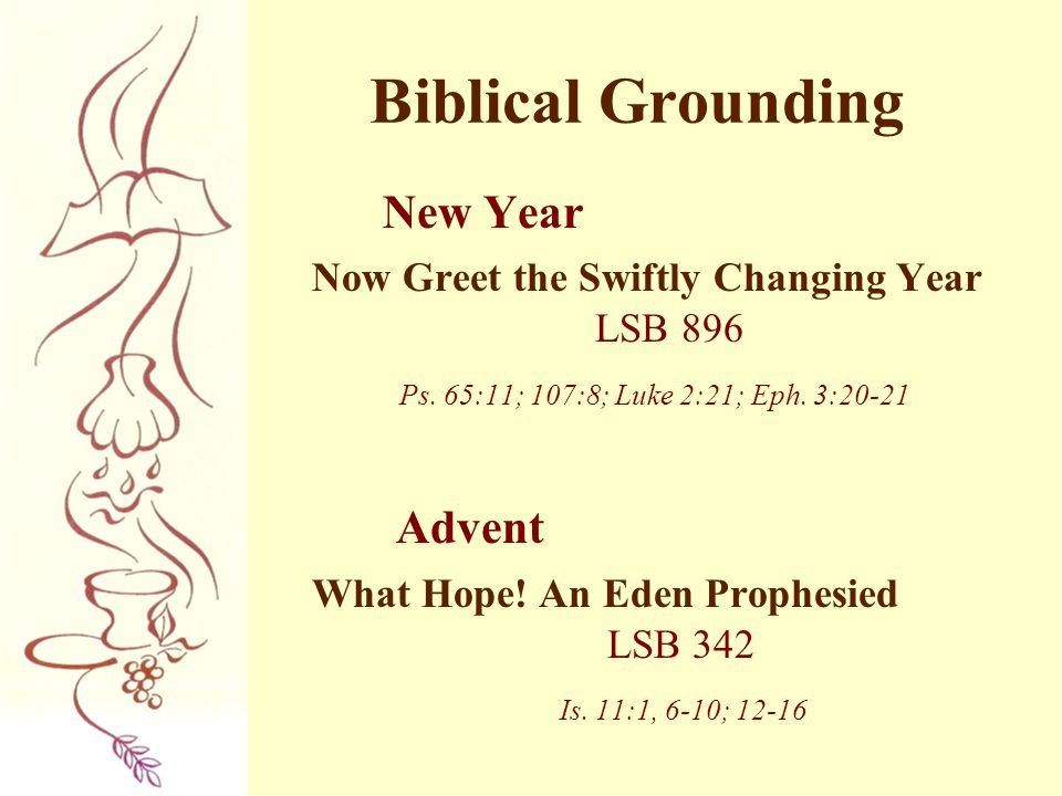 Biblical Grounding New Year Advent