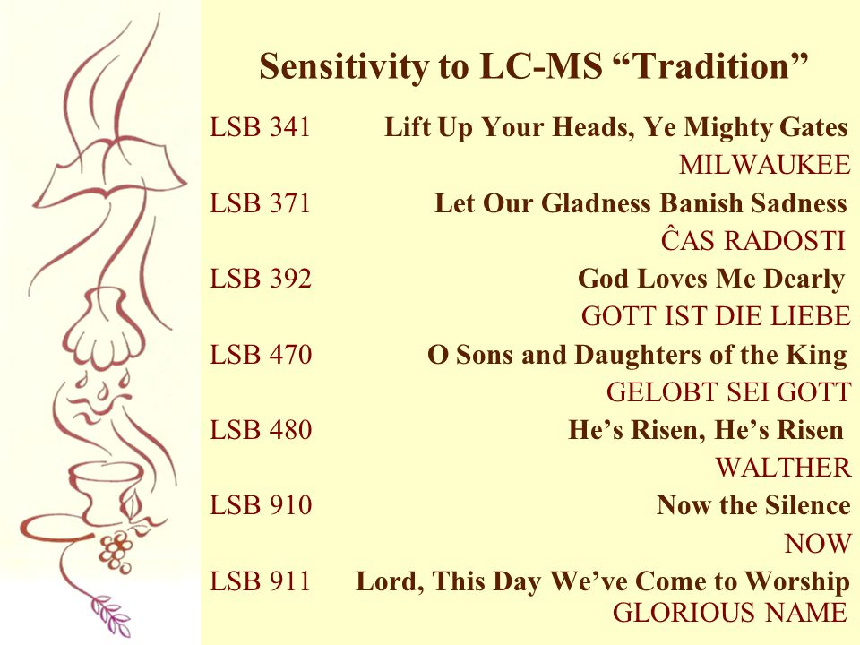 Sensitivity to LC-MS Tradition