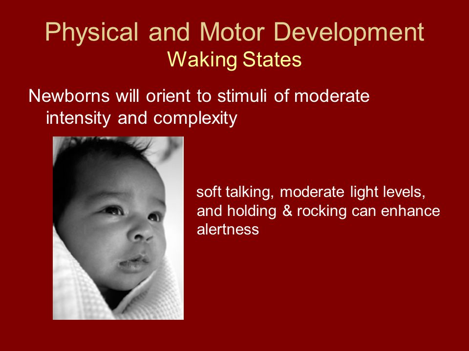 Physical and Motor Development Waking States