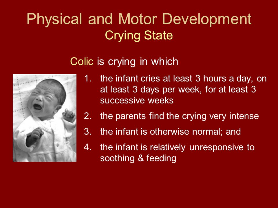 Physical and Motor Development Crying State